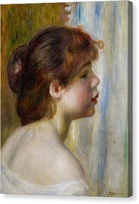 Head Of A Young Woman Canvas Print