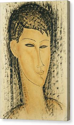 Head Of A Young Women Canvas Print by Amedeo Modigliani