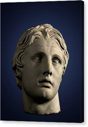 Head Of Alexander The Great Canvas Print by David Parker