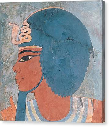Head Of Amenophis IIi From The Tomb Of Onsou, 18th Dynasty Canvas Print by Egyptian 18th Dynasty