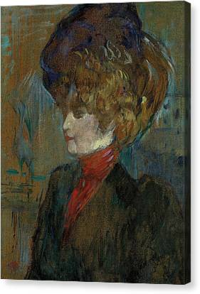 Henri De Toulouse-lautrec Canvas Print - Head Of An English Lady by Henri de Toulouse-Lautrec