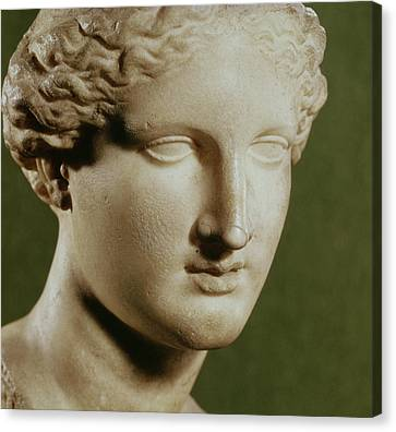 Head Of Artemis Marble Canvas Print