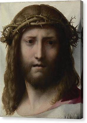 Head Of Christ Canvas Print by Correggio