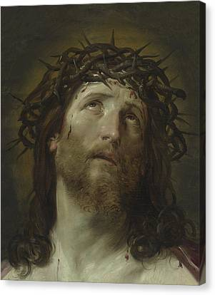 Head Of Christ Crowned With Thorns Canvas Print by Guido Reni
