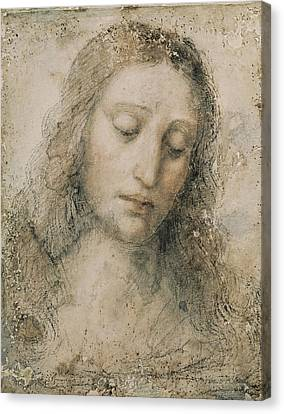 Head Of Christ The Redeemer. 16th C Canvas Print by Everett
