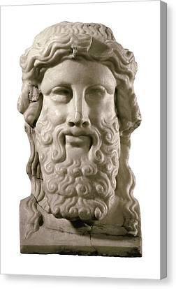 Head Of Hermes. 4th C. Bc. Classical Canvas Print