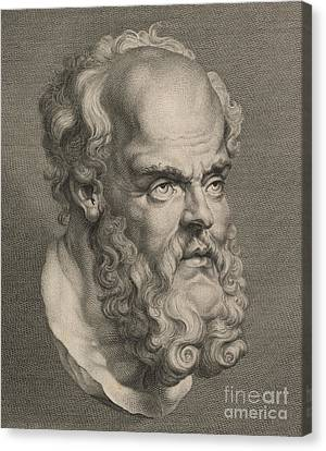 Head Of Socrates Canvas Print by Anonymous