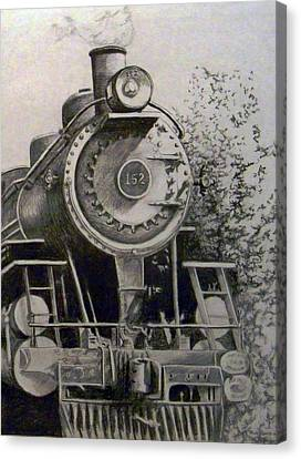 Head Of Steam Canvas Print by Rick Moore