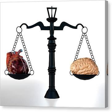 Psychiatric Canvas Print - Head Vs Heart by Christian Darkin