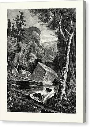 Head-waters Of The Conemaugh. The Conemaugh River Is A Long Canvas Print by American School