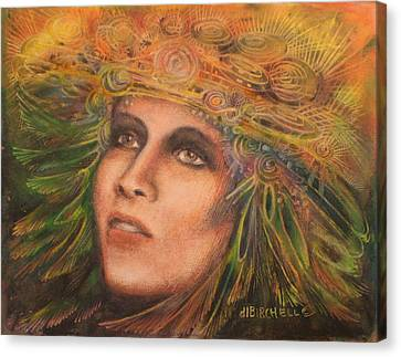 Headdress Canvas Print by Debra Lynn Birchell