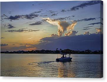Canvas Print featuring the photograph Heading For Harbor by Tim Stanley