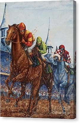 Heading For Home - The Race Canvas Print