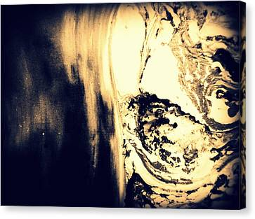 Heading From The Cave Canvas Print by Mlle Marquee