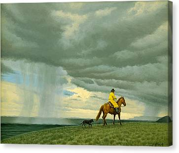 Sky Scape Canvas Print - Heading Home by Paul Krapf