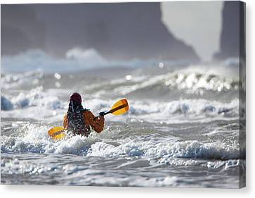 Heading Out At The La Push Pummel Canvas Print by Gary Luhm