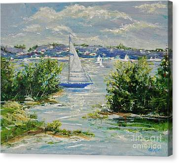 Heading Out Of The Harbor Canvas Print