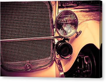 Canvas Print featuring the digital art Headlight And Horn by Bartz Johnson