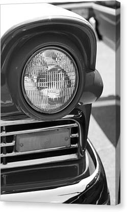 Headlight Black And White Canvas Print by Denise Beverly