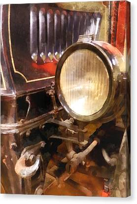 Headlight From 1917 Truck Canvas Print by Susan Savad