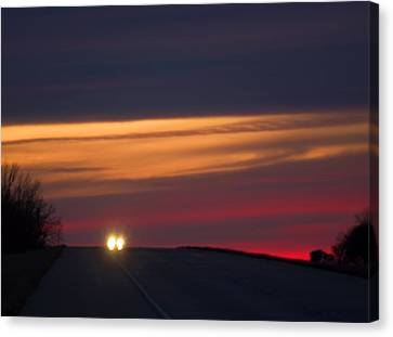 Canvas Print featuring the photograph Headlights by Bob Pardue