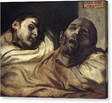 Heads Of Torture Victims, Study For The Raft Of The Medusa  Canvas Print by Theodore Gericault