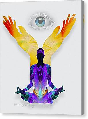 Healing Energy Canvas Print by Gayle Odsather