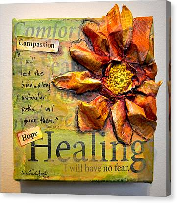 Healing From Isaiah 42 Canvas Print by Lisa Fiedler Jaworski
