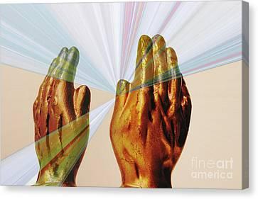 Healing Hands Canvas Print by Linda Matlow