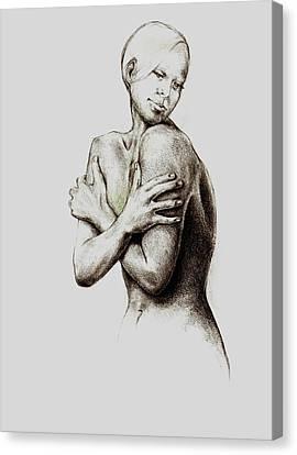 Healing Liz Canvas Print by Andrea Carroll