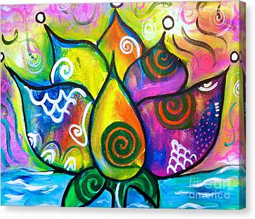 Healing Lotus Of Transformation Canvas Print by Kim Heil