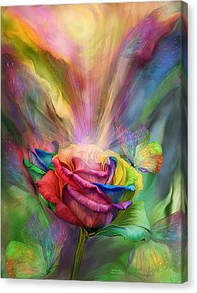 Rose Canvas Print - Healing Rose by Carol Cavalaris