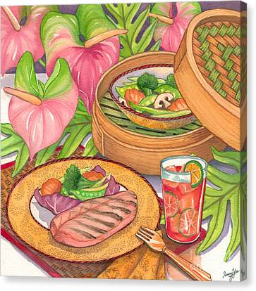 Healthy Dining Canvas Print by Tammy Yee
