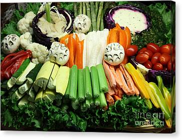 Healthy Veggie Snack Platter - 5d20688 Canvas Print by Wingsdomain Art and Photography