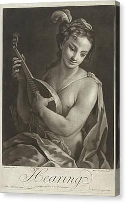 Hearing, Alexander Van Haecken, T. Jefferys Canvas Print by Alexander Van Haecken And T. Jefferys And W. Herbert
