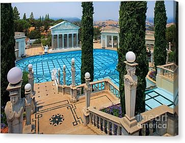 Hearst Castle Neptune Pool Canvas Print by Inge Johnsson