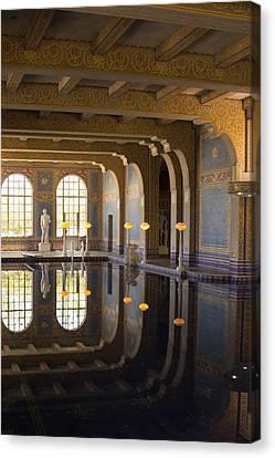 Hearst Castle Roman Pool Reflection Canvas Print