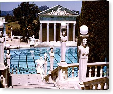 Hearst Castle - Roman Pool Canvas Print by Robert  Rodvik