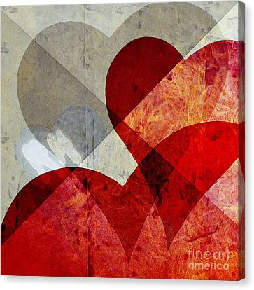 Hearts 8 Square Canvas Print by Edward Fielding