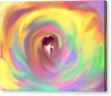 Heart Abstract Canvas Print by Marianna Mills