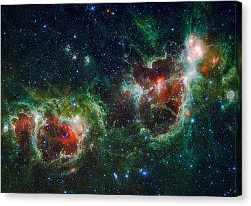 Heart And Soul Nebula As Seen By Wise Canvas Print by Space Art Pictures