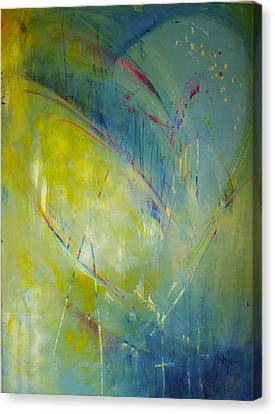 Canvas Print featuring the painting Heart Beat by Eleatta Diver