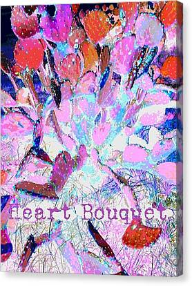 Heart Bouquet  Canvas Print by ARTography by Pamela Smale Williams