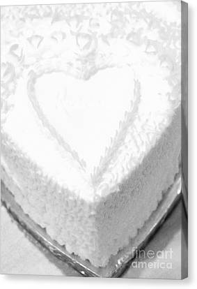 Heart Cake Canvas Print by Kathleen Struckle