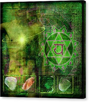 Heart Chakra Canvas Print by Mark Preston