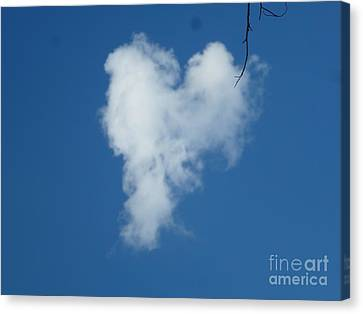 Heart Cloud Bell Rock Canvas Print by Marlene Rose Besso