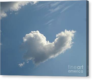 Heart Cloud Sedona Canvas Print by Marlene Rose Besso