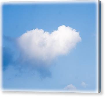 Heart Cloud Canvas Print by Shirley Tinkham