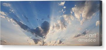 Crepuscular Rays Canvas Print - Heart Cloud by Tim Gainey