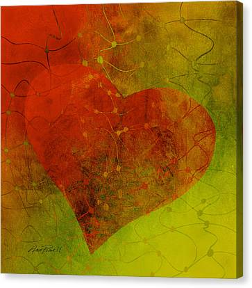 Heart Connections Three Canvas Print by Ann Powell
